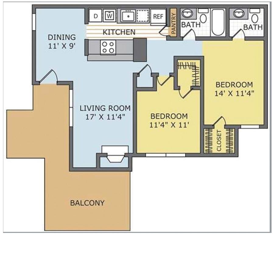 Dogwood 2 Bedroom Apartment